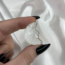 Load image into Gallery viewer, (1) Clear Quartz Moon with Face
