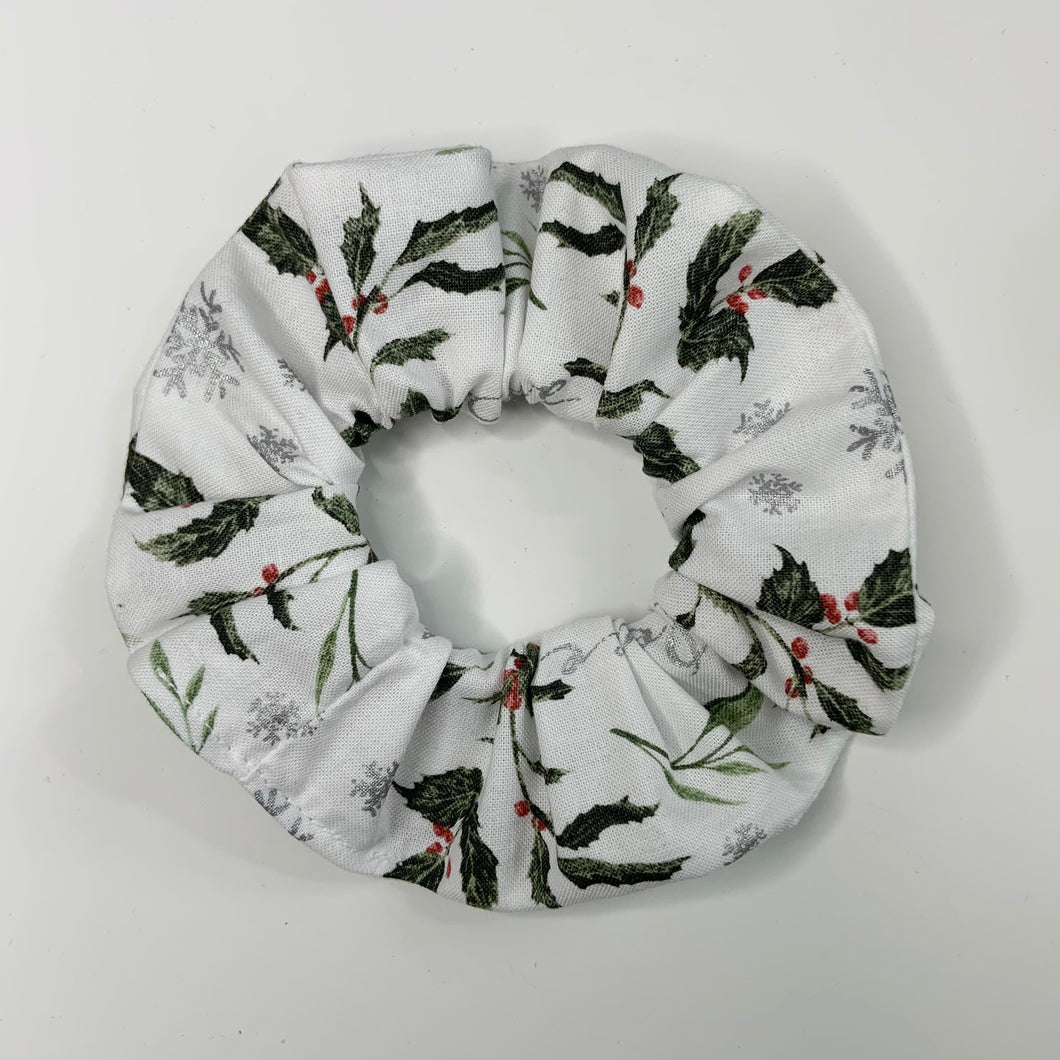"""Holly & Berry"" Handmade Scrunchie"
