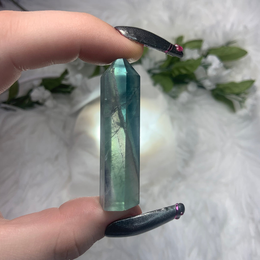 "Mini Fluorite Tower ""E"""
