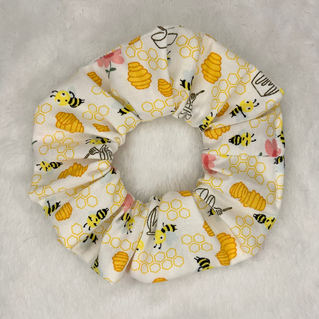 """Honey Bee"" Handmade Scrunchie"