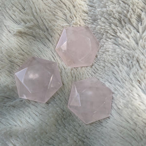Rose Quartz Hexagon