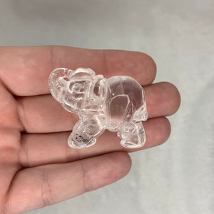 "1.5"" Clear Quartz Elephant"
