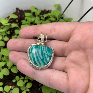 """Tea Party"" Wire Wrapped Pendant"