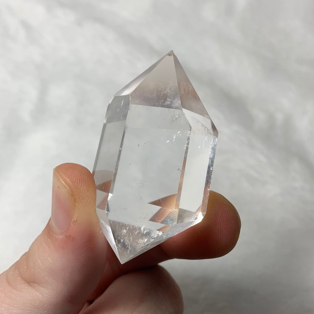 "Clear Quartz Double Terminated Point ""E"""