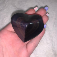 "Load image into Gallery viewer, Rainbow Obsidian Heart ""D"""