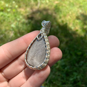 """Maeve"" Wire Wrapped Crystal Pendant"