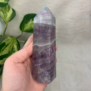 "Lilac Fluorite Tower ""C"""