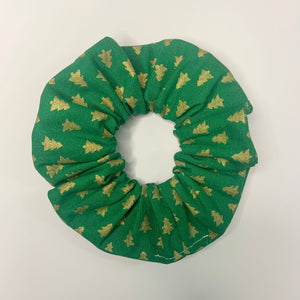 """Golden Trees"" Handmade Scrunchie"