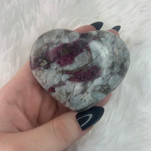 Load image into Gallery viewer, Rubelitte Tourmaline in Quartz Heart