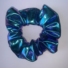 "Load image into Gallery viewer, ""Metallic Mermaid Duo Chrome"" Handmade Scrunchie"