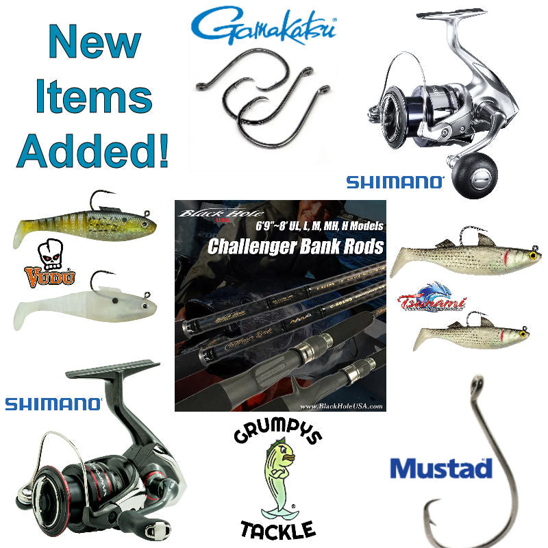 Restocking, Adding New Items, and a Fishing Report.