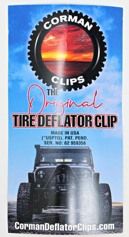Corman Clips - The Original Tire Deflator Clips