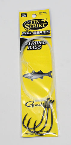 Fin Strike Pro Series Snelled Striped Bass Hooks