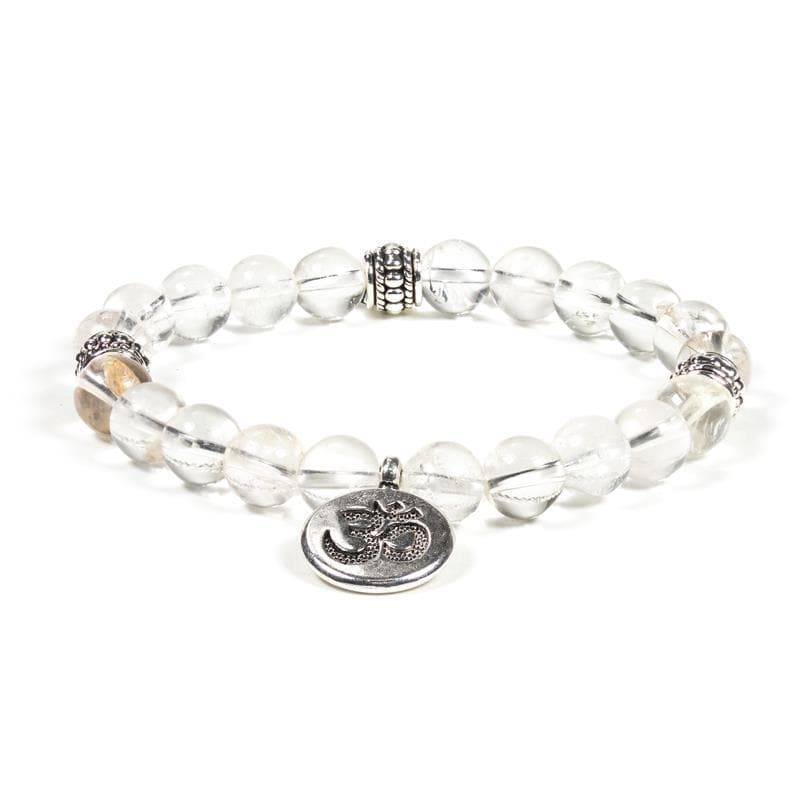 Clear Crystal Ohm Bracelet - Health Matters