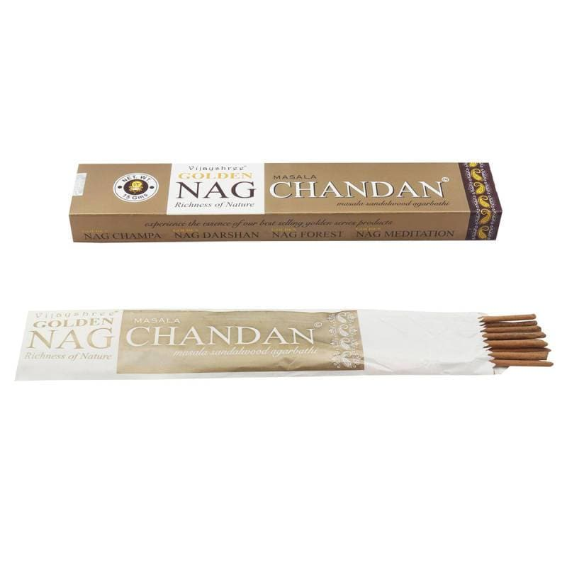 Chandan Golden Nag Incense - Health Matters Shop