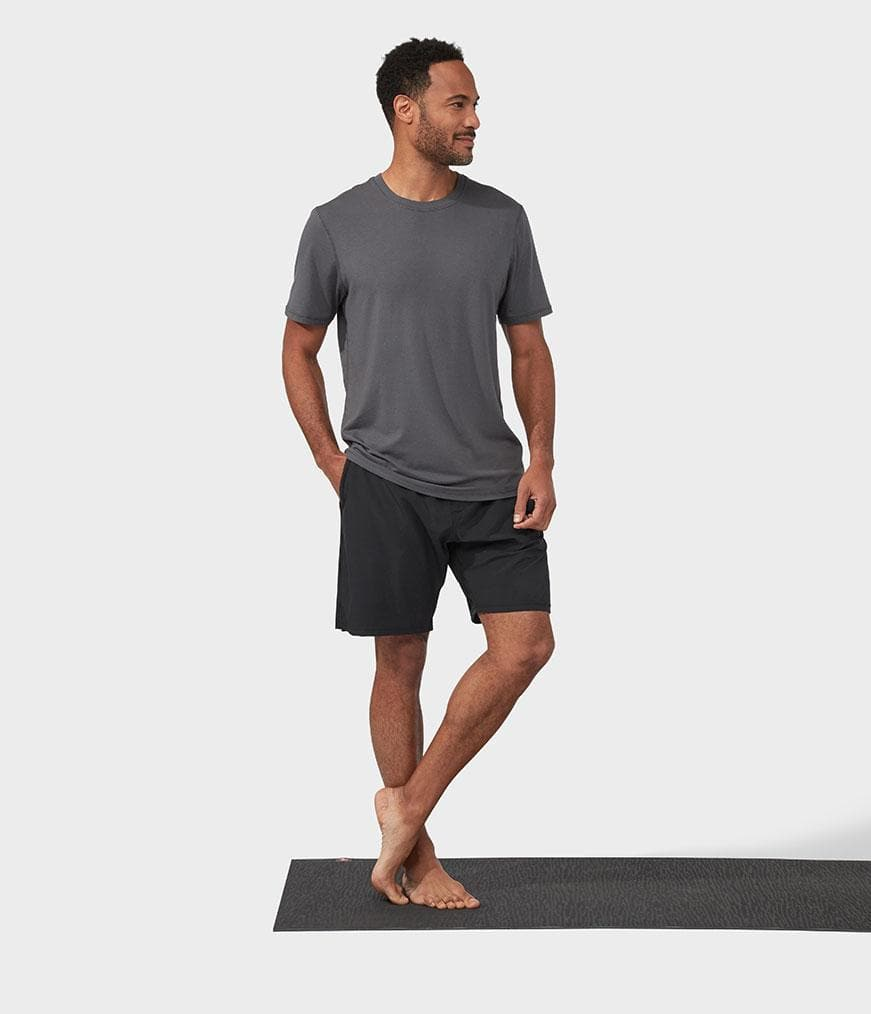Manduka Refined Tee New Grey - Health Matters Shop