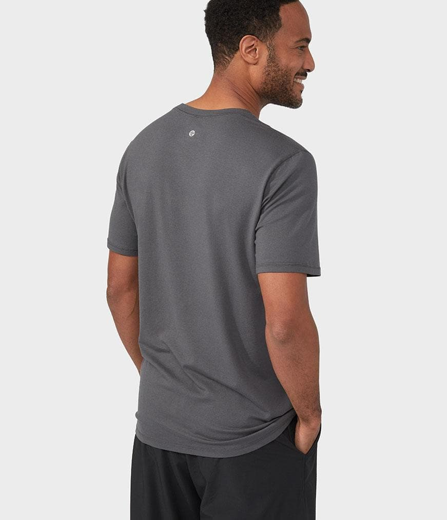 Manduka Refined Tee New Grey - Health Matters