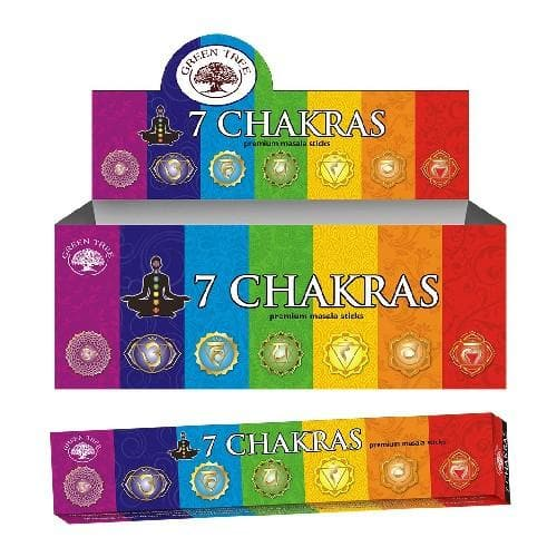 7 Chakras Incense Green Tree - Health Matters Shop