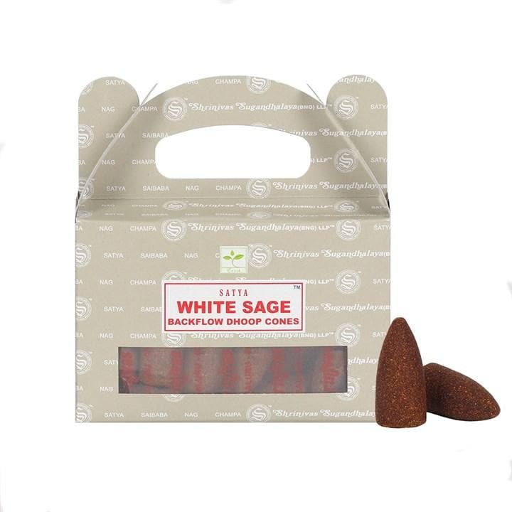 White Sage Incence Backflow Cones - Health Matters Shop