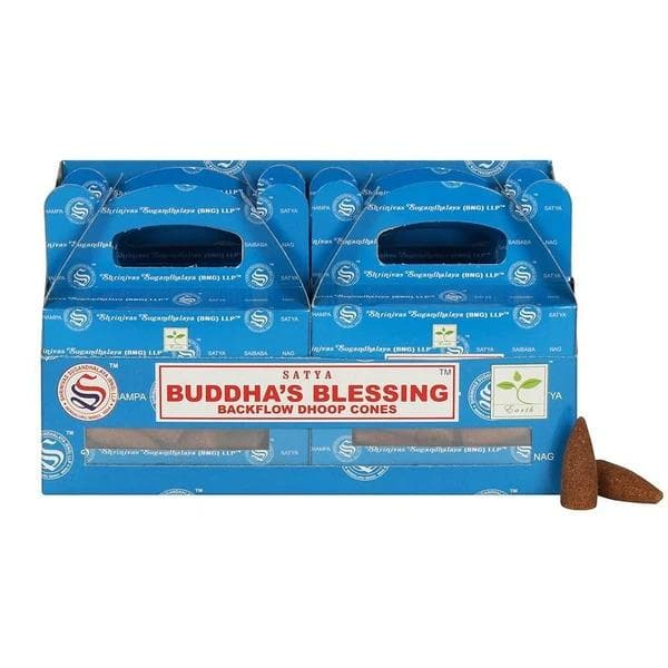 Buddha's Blessing Backflow Dhoop Cones Satya - Health Matters Shop