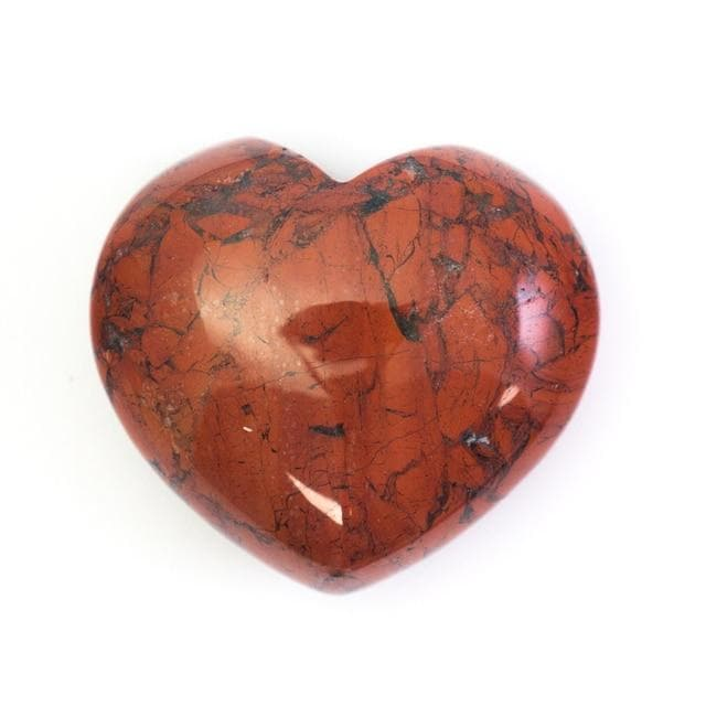 Red Jasper Crystal Heart - Health Matters