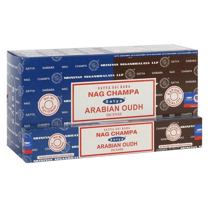 Nag Champa & Arabian Oudh Satya Incense - Health Matters Shop