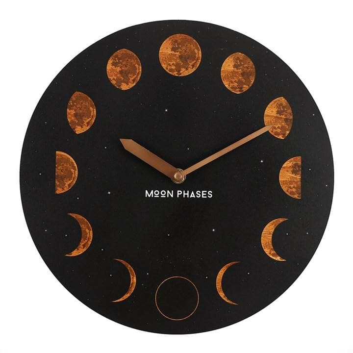 Moon Phases Clock Orange - Health Matters
