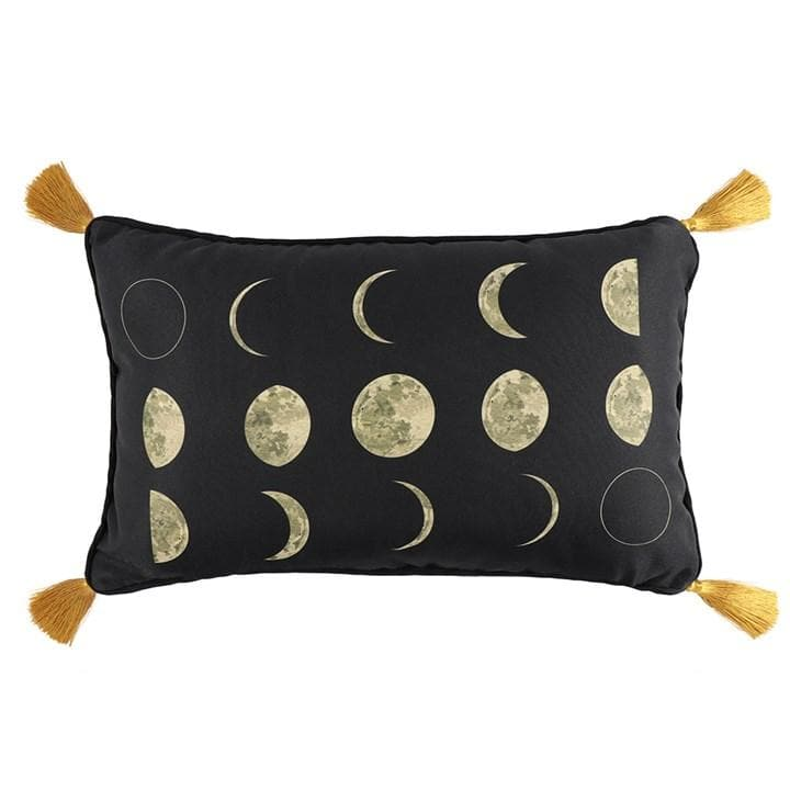 Rectangular Moon Phases Cushion Gold - Health Matters