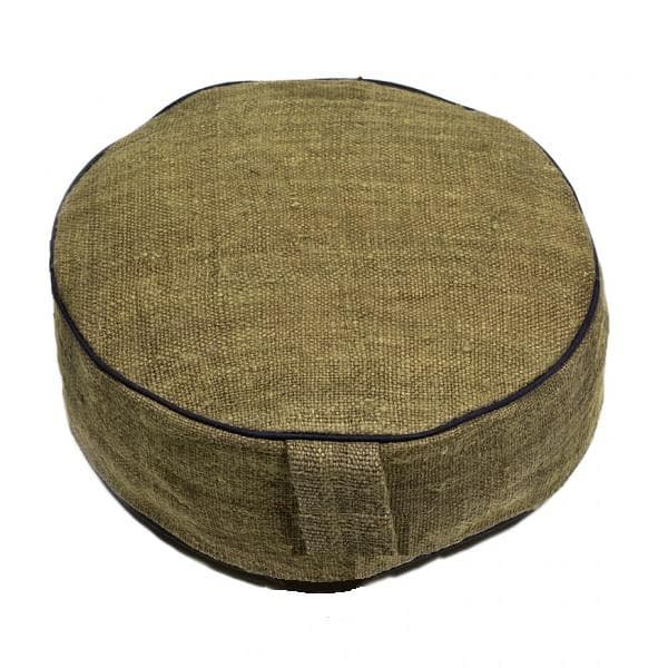 Hemp Meditation Cushion Olive - Health Matters