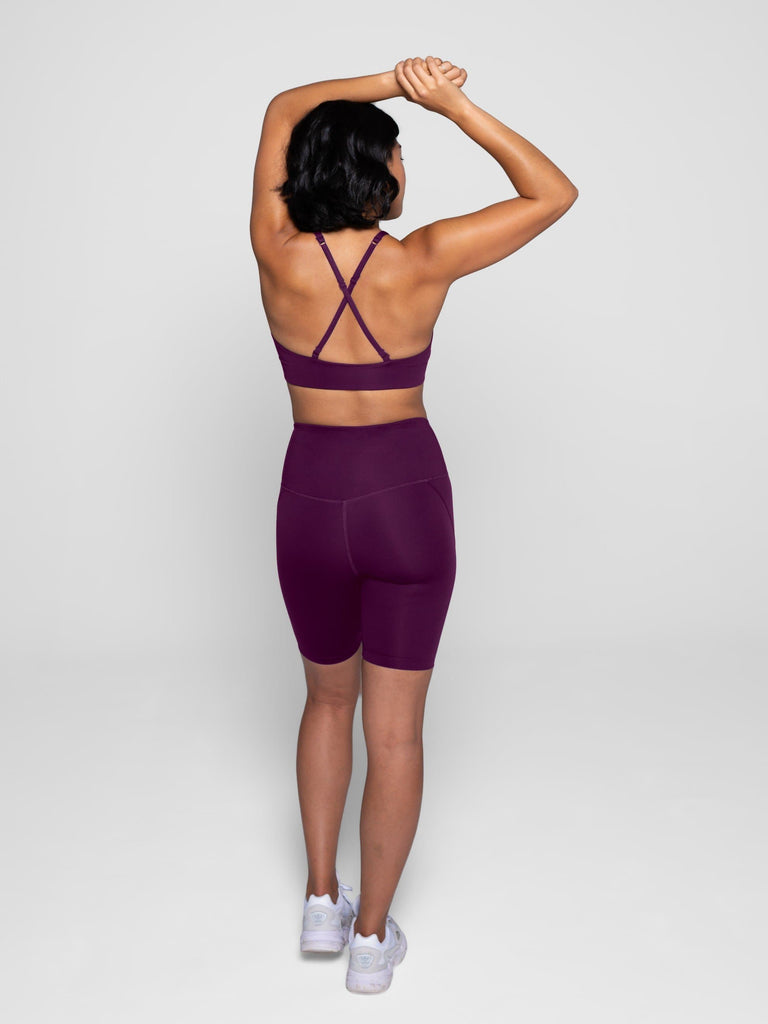 Girlfriend Collective High-Rise Bike Shorts Plum - Health Matters