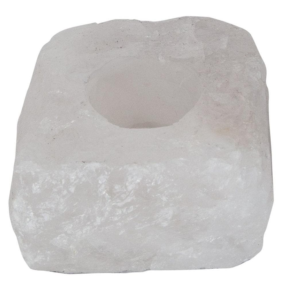Raw Clear Quartz Tealight Holder - Health Matters