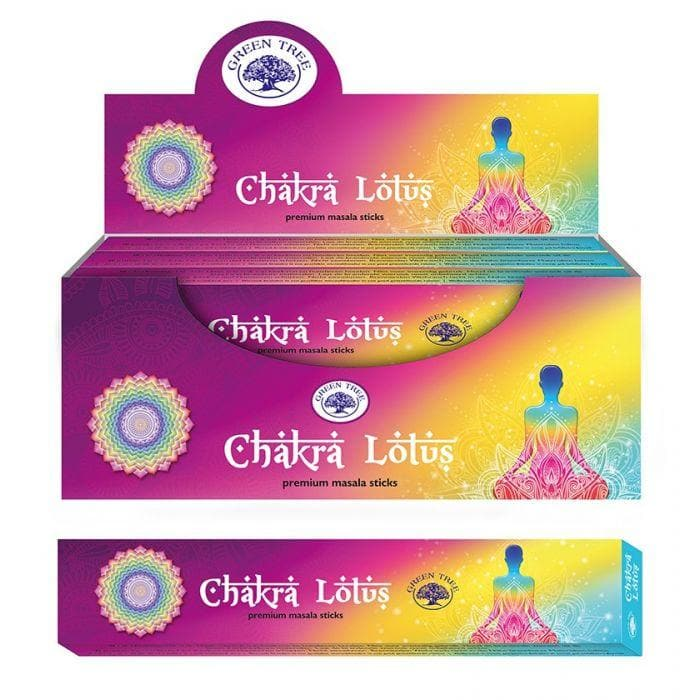 Chakra Lotus Incense Green Tree - Health Matters Shop