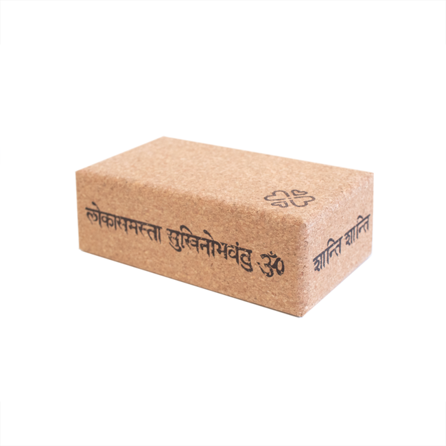 Love Generation Yoga Block Cork Mantra - Health Matters Shop