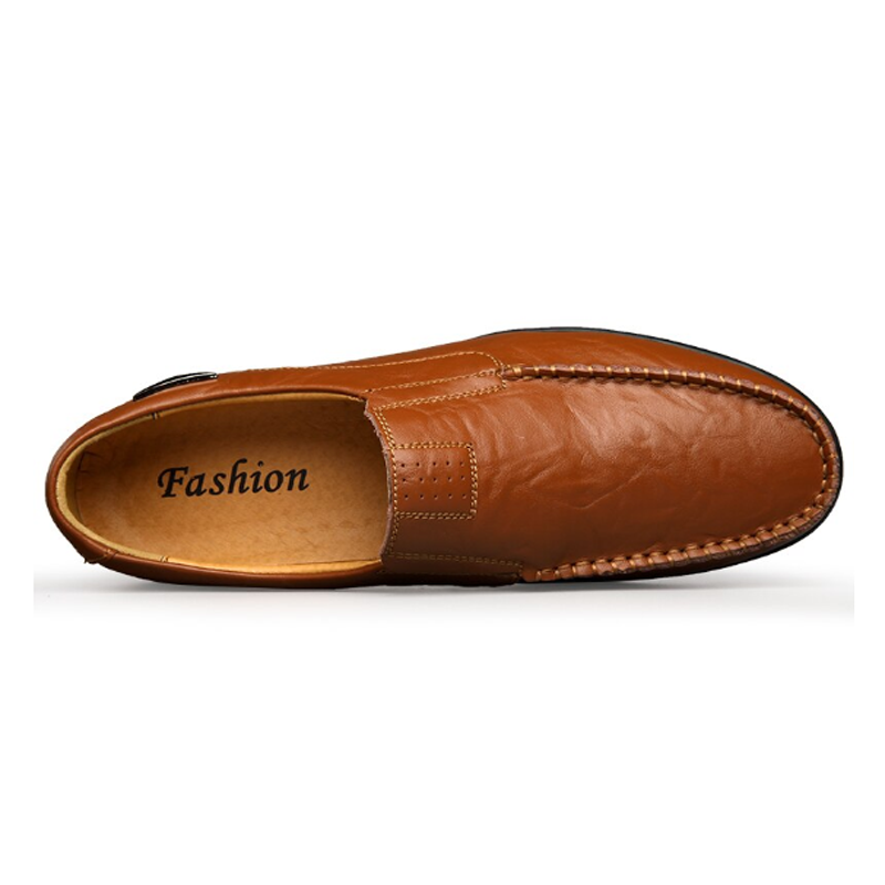 Men Genuine Leather Slip On Shoes