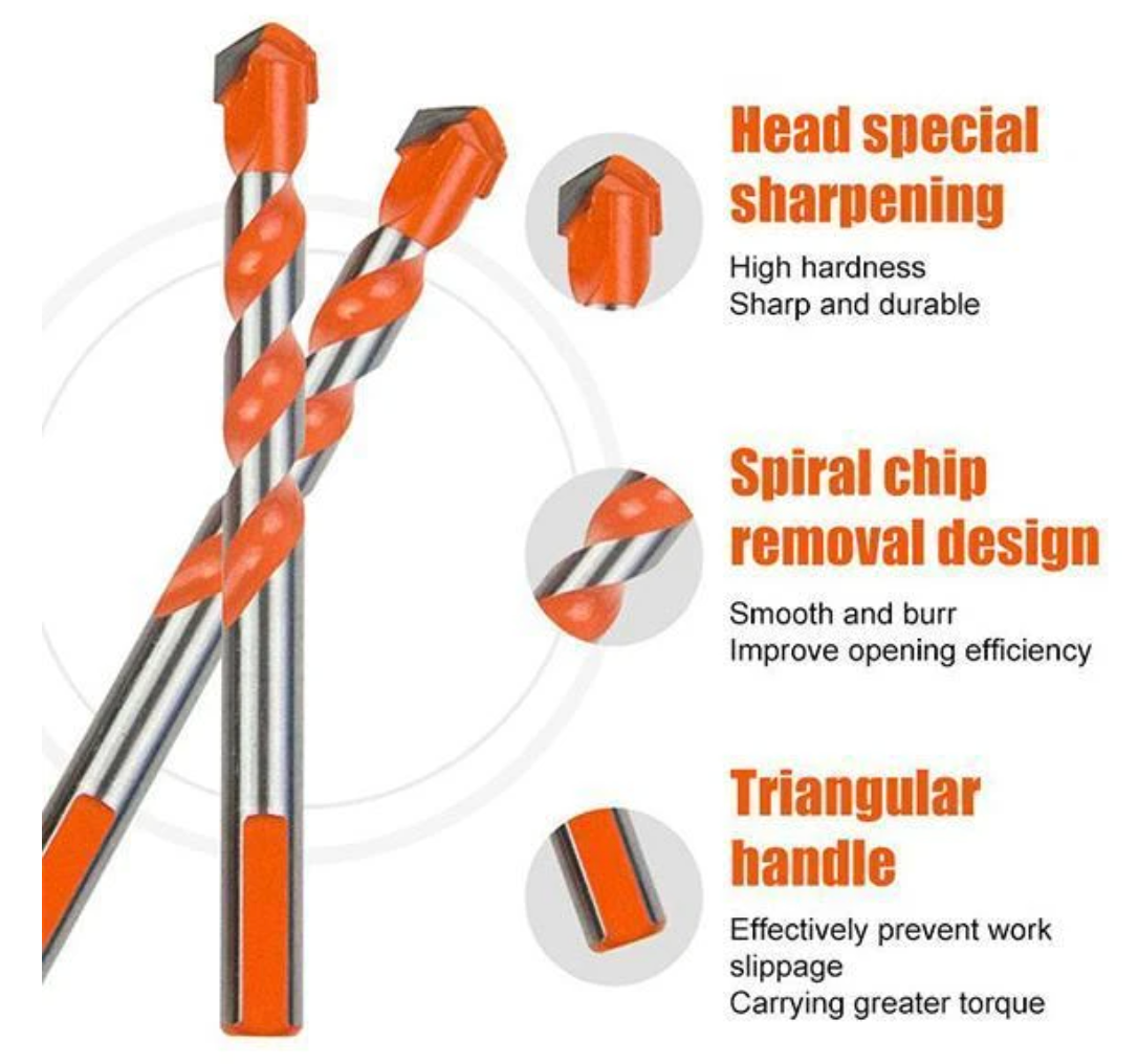 Multifunctional Drill Bits 5 Pc, Ceramic Glass