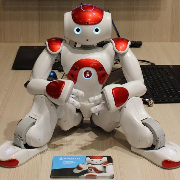 High-Tech Artificial Intelligence Robot