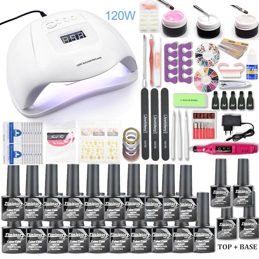 Manicure Gel Set and UV Nail Lamp