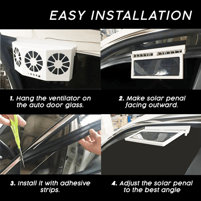Cool Solar Car Exhaust Heat Exhaust Fan