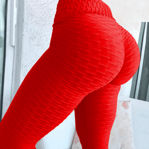 Textured High Waisted Scrunch Leggings