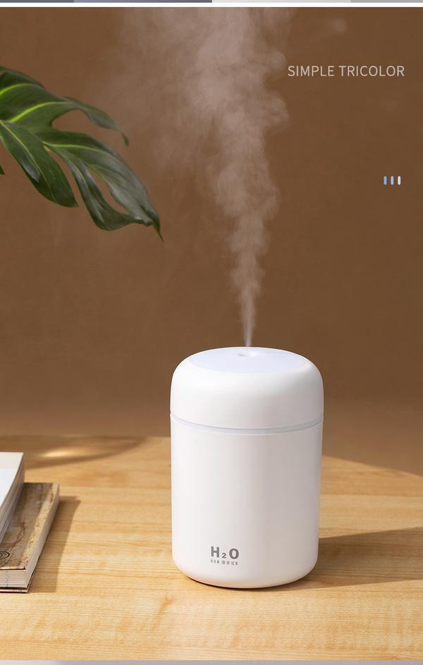 Portable H2O Ultrasonic Air Humidifier with Romantic Light
