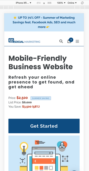 GoSocial mobile optimized website