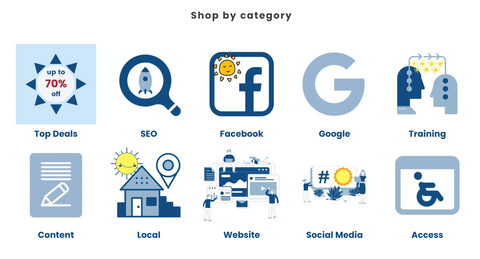 GoSocial website categories
