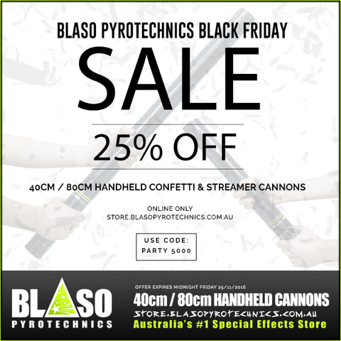 Blaso Pyrotechnics Handheld Cannons Black Friday Promo