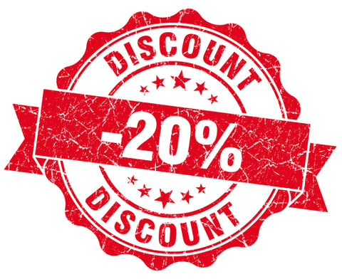 20% OFF ALL CONSUMABLES