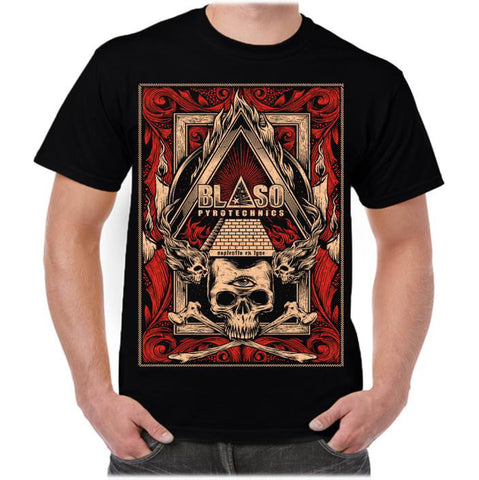 'Pyro-Illuminati' T-shirt - Black