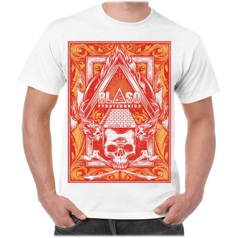 'Pyro-Illuminati' T-shirt - White