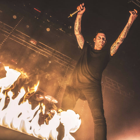 Blaso Pyrotechnics Dragons Tail Flame Bar Parkway Drive