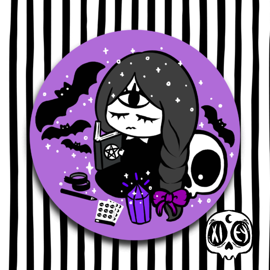 GOTH GHOUL PLAN CIRCLE VINYL STICKER