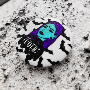 GOTH GHOUL SPOOKY SPARK BUTTON BADGE