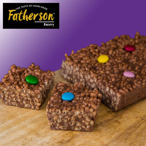 "Chocolate Crispie Traybake 7"" x 5"" - Direct Deliver"
